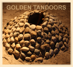Tandoor in SAND with Stones
